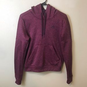 Adidas Maroon Pullover Climawarm Hoodie Size XS